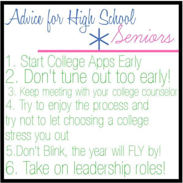 advice for high school seniors