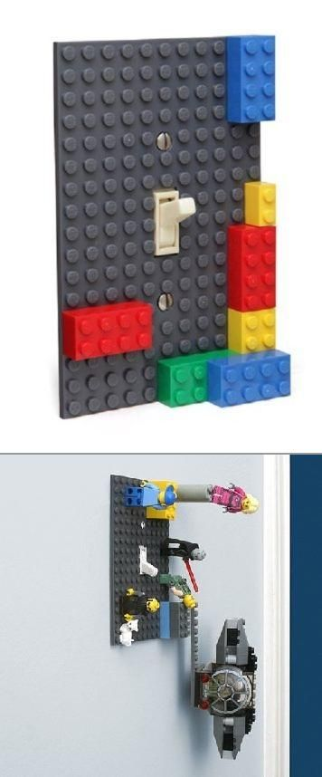 Creativity knows no bounds when LEGO is involved! Check out custom made light switch covers that hold your LEGO bricks (and people) in place where you leave them!
