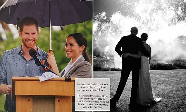 Harry And Meghan Send Out New Thank You Card Harry Meghan