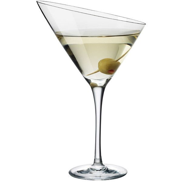Eva Solo Martini Glass found on Polyvore featuring home, kitchen & dining, drinkware, filler, food and drink, kitchen, clear, martini glass, hand blown martini glass and hand blown martini glasses