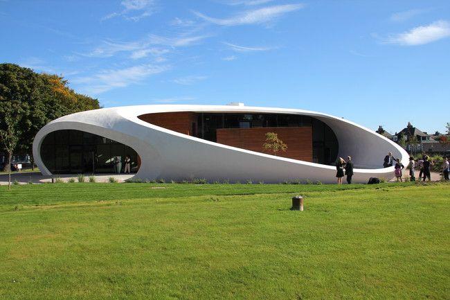 Maggie's Centre, designed by Snøhetta, in Aberdeen, Scotland.