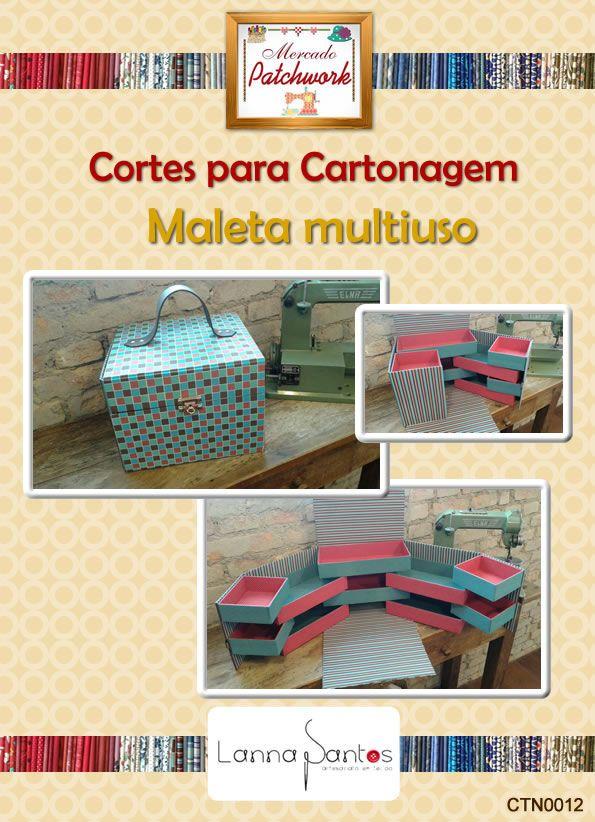 KIT DE CARTÃO E HOLLER CORTADO E DIMENSIONADO ESPECIALMENTE PARA PROJETO: Maleta Multiuso