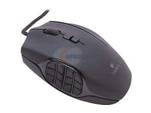Logitech G600 MMO Gaming Mouse 910-002864 Black 20 Buttons Tilt Wheel USB Wired Laser 8200 dpi Mouse