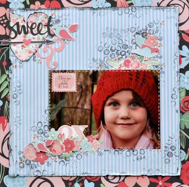 A Layout by Kelly-ann Oosterbeek, made using the XO paper collection from Kaisercraft. www.amothersart.com.au