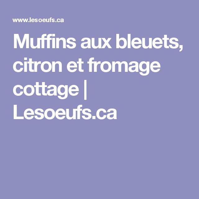 Muffins aux bleuets, citron et fromage cottage | Lesoeufs.ca