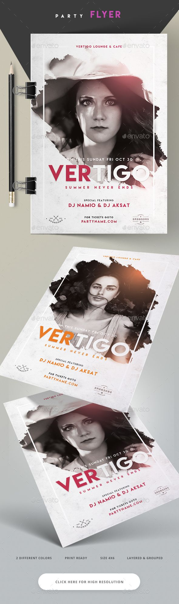 Vertigo lounge and Cafe Flyer  — PSD Template #event poster #party • Download ➝ https://graphicriver.net/item/vertigo-lounge-and-cafe-flyer/18377059?ref=pxcr