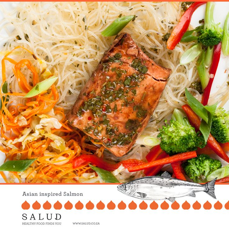 Asian Inspired Salmon   Healthy prepared take home meals delivered to you.   www.salud.co.za