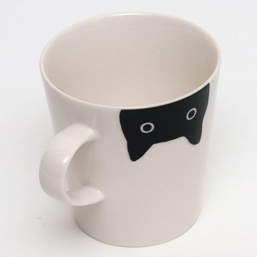 Cute Black Cat Mug. I want to get this for my mom!