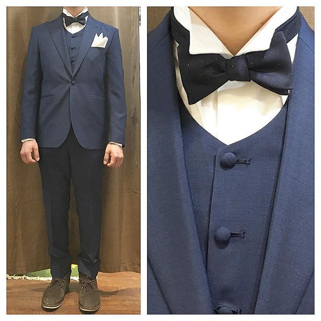 navy suit.    ライトネイビーのスリーピースに、フォーマルのウイングカラーシャツ。  .  .  .    蝶ネクタイはネイビードット柄で。      #ライフスタイルオーダー#オーダースーツ目黒#結婚式#カジュアルウエディング#ナチュラルウエディング#レストランウエディング#結婚準備#新郎衣装#新郎#プレ花嫁#メンズファッション#オーダータキシード#スリーピース#蝶ネクタイ    #lifestyleorder#japan#meguro#photooftheday#instagood#wedding#tailor#snap#mensfashion#menswear#follow#ootd#formal#weddingparty#bowtie