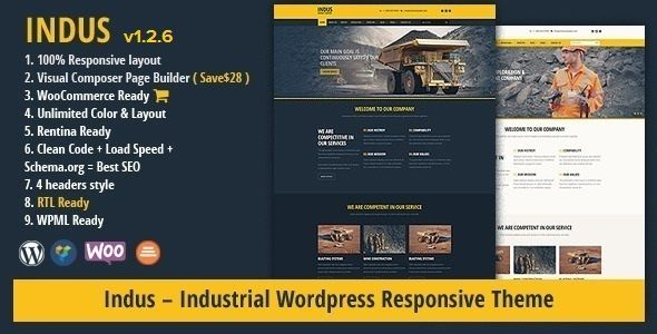 INDUS - Contruction Business WordPress Theme