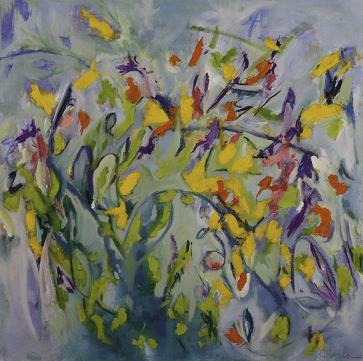 Violet's Garden Oil On Canvas Geraldine Gillingham