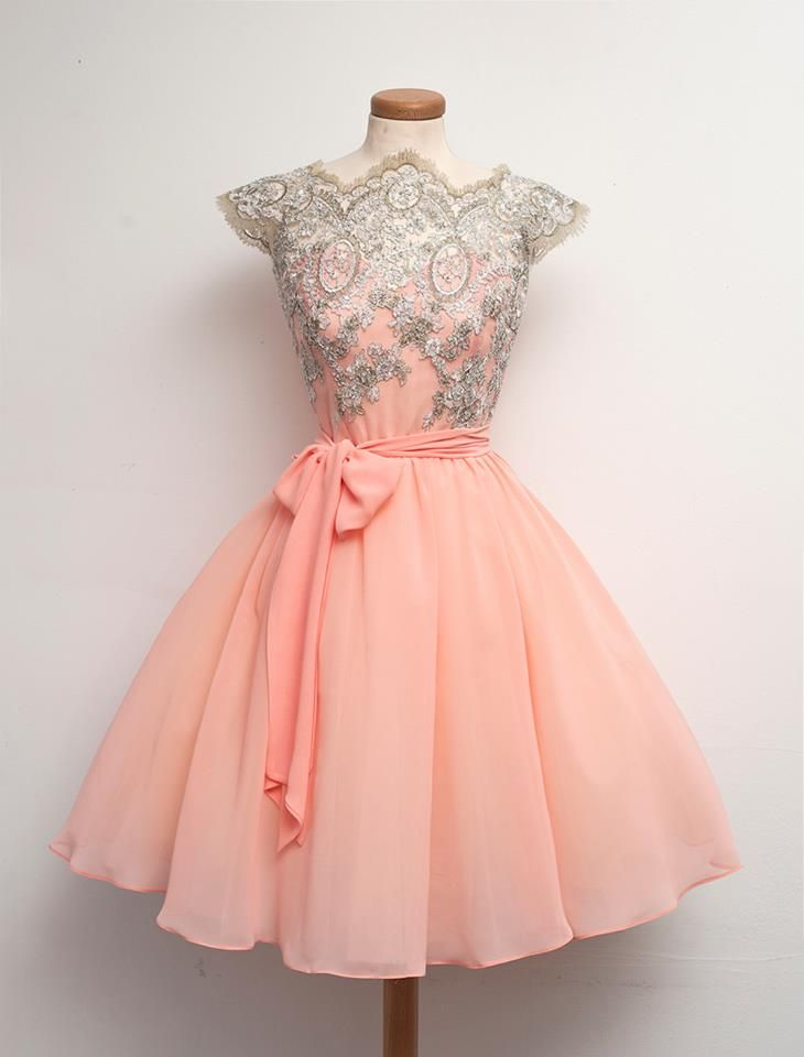 Peach & Lace Party Dress l Chotronette ...what a beauty