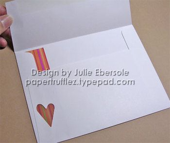 Using an A2 envelope for a square card ~ Julie Ebersole Great idea!