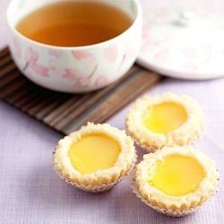 These flaky Chinese egg tarts are a common feature on Dim Sum restaurant menus
