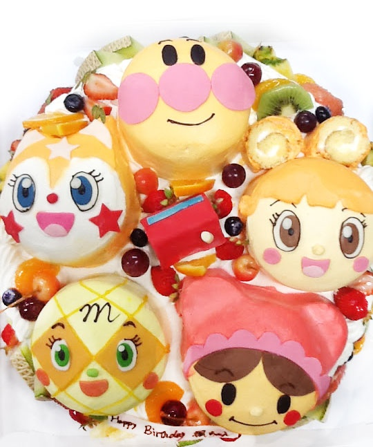 アンパンマンと仲間たちの誕生日ケーキ/3D超立体ケーキ ♥ Dessert