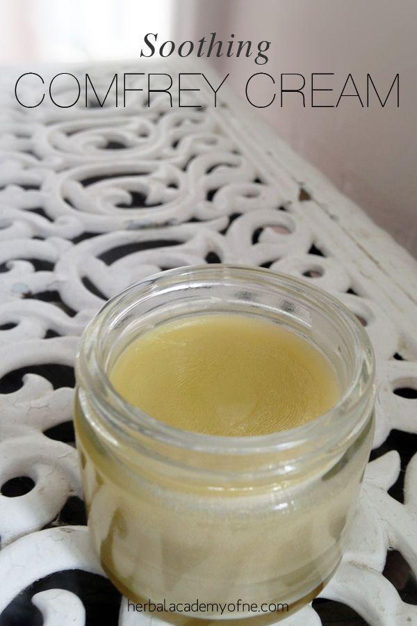 A DIY Soothing Comfrey Cream and the medicinal benefits of comfrey