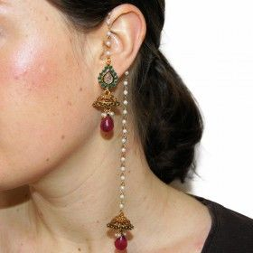 Boucles d'oreilles indiennes bollywood