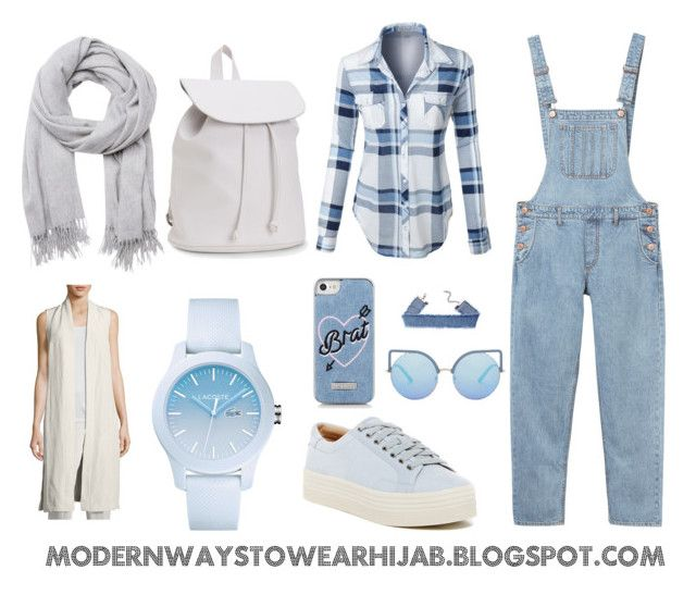 """""""Overwall Hijab Style Outfit"""" by azzahraabelgassab on Polyvore featuring mode, Monki, LE3NO, Eileen Fisher, Witchery, Marc Fisher LTD, Aéropostale, Lacoste, Skinnydip et Matthew Williamson"""
