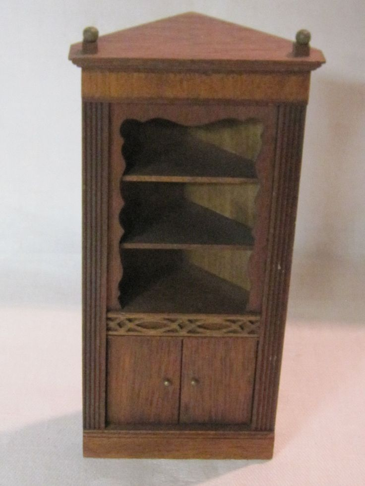 Vintage Lynnfield Blockhouse mahogany dollhouse corner shelf cupboard | eBay