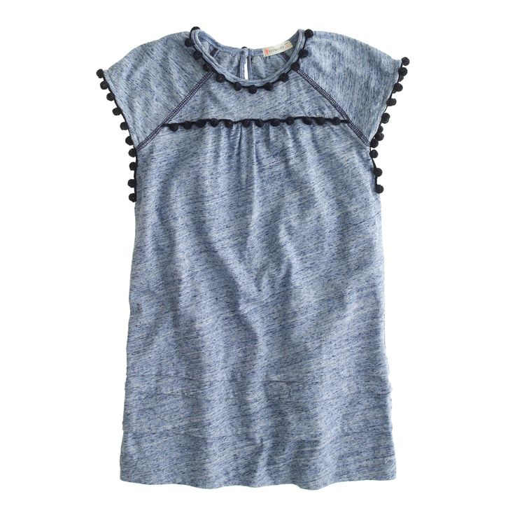 Girls' pom-pom t-shirt dress : Vacation Shop   J.Crew