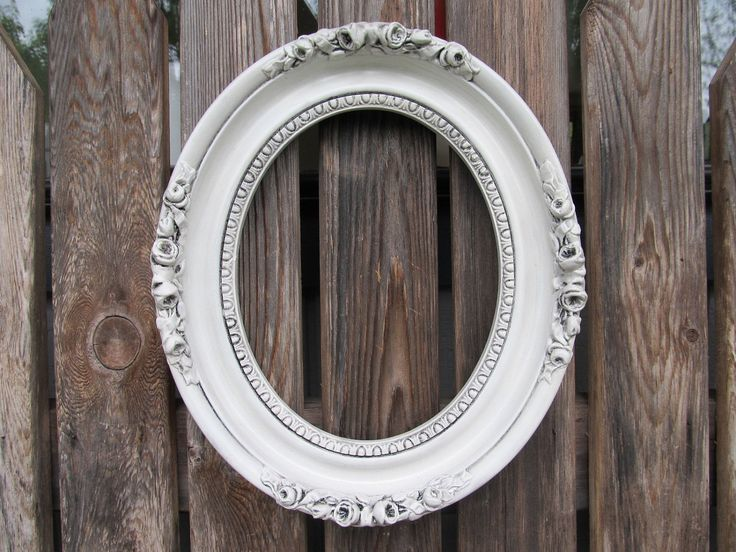 antique oval picture frame vintage antiqued white oval ornate frame by deboshomedecor on etsy - White Vintage Picture Frames