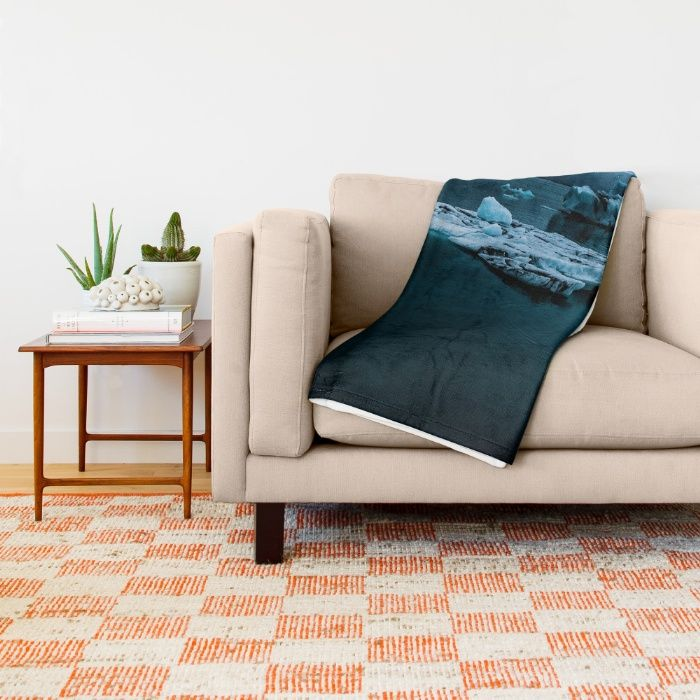 Blistering Cold Throw Blanket by Mixed Imagery | Society6