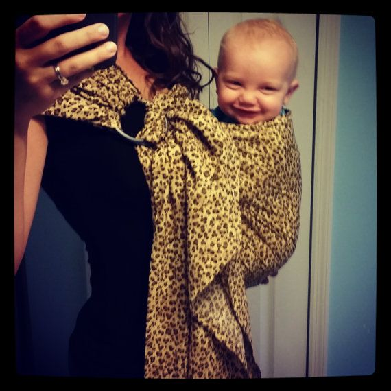 Chevron Print or Animal Print Ring Sling by BabyHippies on Etsy, $55.00 Ring Sling, Baby Wearing, Baby Carrier, Wrap