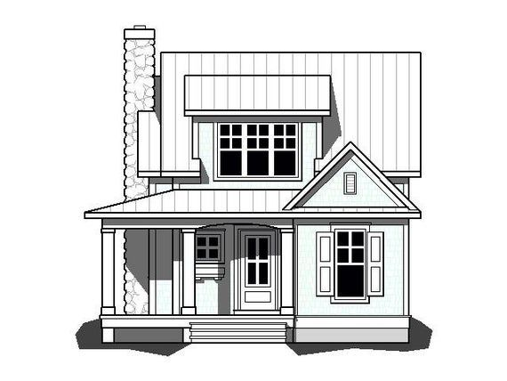 Rosewood Cottage Cottage Plan House Plans Small House Plans