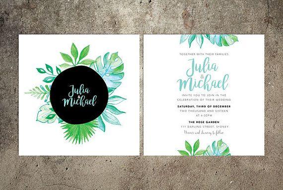 Leaves Wedding Invitation Suite – Printable