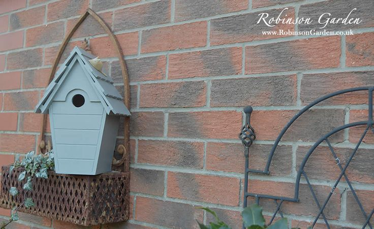 The Lyndhurst nestbox birdbox a wild bird nest box using FSC wood made exclusively for Robinson Garden suitable for a wide range of garden birds