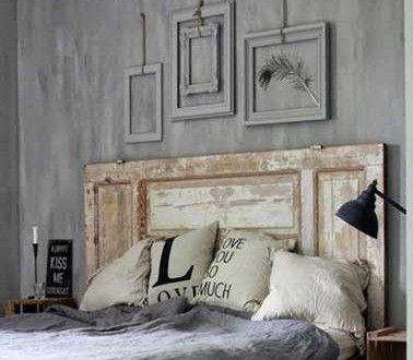 Les 25 meilleures id es de la cat gorie peinture de t te de lit sur pinterest - Fabriquer tete de lit bois ...