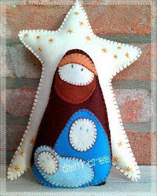 El hilo de maíz y Gloria Creaciones: costura creativa: Fuoriporta Natividad de pannolenci: