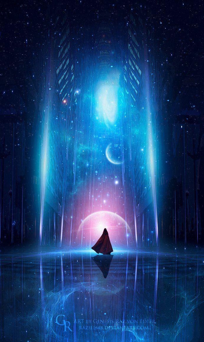 Cosmic Energy By Generazart On Deviantart Http Www Cosmicenergyprofile Com Hop Jokocb Fantasy Landscape Anime Scenery Digital Painting