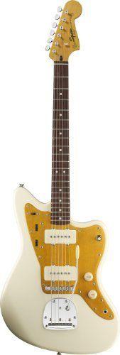 Squier by Fender J Mascis Jazzmaster, Rosewood Fretboard - Vintage White by Squier, http://www.amazon.com/dp/B005N2BW7K/ref=cm_sw_r_pi_dp_4rydsb1YRRVGH