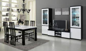 Woonkamerset Apeldoorn Zwart Wit | Goedkoopst bij A-meubel http://www.a-meubel.nl/woonkamers/meubelset/woonkamerset-apeldoorn-zwart-wit/12188