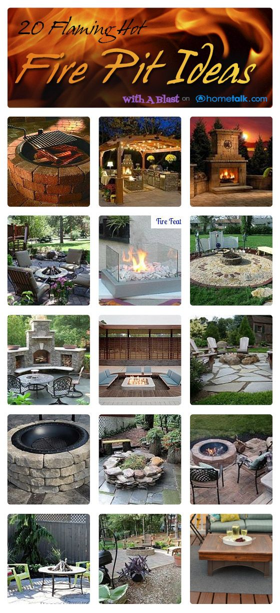 With A Blast: 20 DIY Flaming Hot Fire Pit Ideas {Summer party decor/ideas}    #outdoors  #grilling  #BBQ #diy #garden