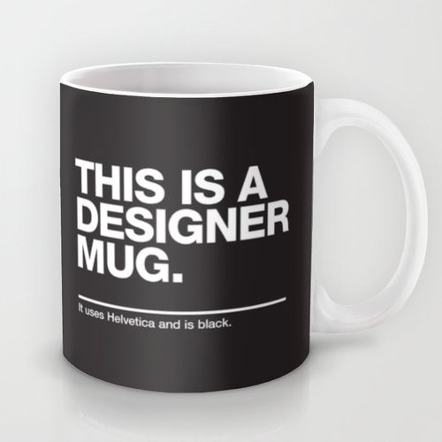 this is a designer mug by words brand