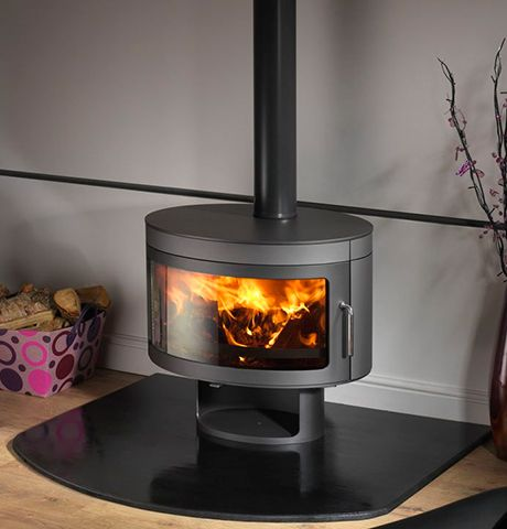 Future Fires Panoramic FX1    The Panoramic FX1 is the modern wood burning stove from Future Fires. This beautiful, clean-burning stove is DEFRA approved and suitable to heat smokeless zones. Built in South Yorkshire, Panoramic FX1 and Bollente are some of the best looking and functional modern wood burning stoves, manufactured in the UK. The contemporary wood stoves come in 15 colours to match any decor and style - Satin Black, Metallic Grey, New Sky Blue, Metallic Mahogany, Charcoal…