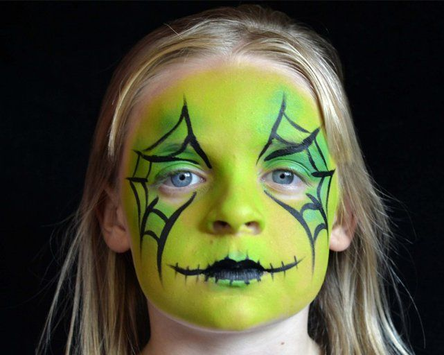 Halloween Face Painting For Kids The Zombie Look Families Online Witch Face Paint Face Painting Halloween Kids Face Paint