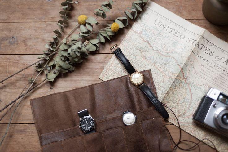 Tutoriel pour réaliser un étui à montres en cuir pour monsieur. Une bonne idée de cadeau pour la St-Valentin, ou pour un anniversaire.