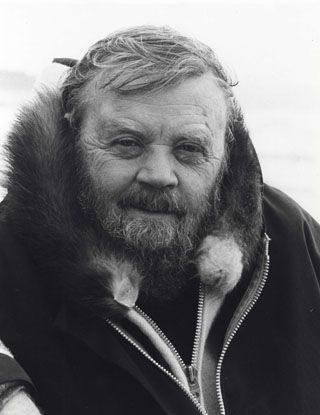 Farley Mowat (1921-2014) was born in Belleville, Ontario.  He is a conservationist and one of Canada's most widely-read authors.  His works have been translated into 52 languages and he has sold more than 14 million books. He achieved fame with the publication of his books on the Canadian North, such as People of the Deer (1952) and Never Cry Wolf (1963).