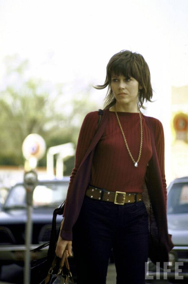 Jane Fonda a spasso con la sua Louis Vuitton bag