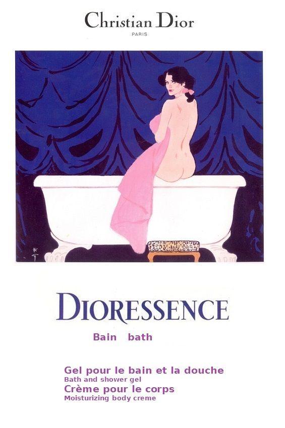 Dioressence Bain (1979) by René Gruau