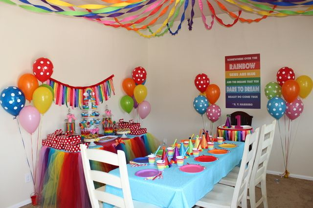 Over the Rainbow Birthday Party Ideas | Photo 1 of 8 | Catch My Party
