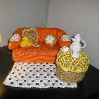 Patrones Amigurumi: Cómo tejer un Saloncito de crochet