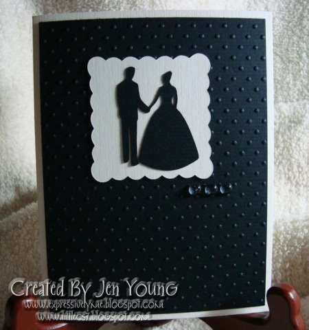 Black And White Wedding Card Using Wedding Solutions And Accent Essential  Cartridges