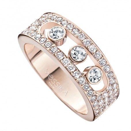 Bagues femme Femme MESSIKA Bague Move Joaillerie S Full Pavé or rose et diamants