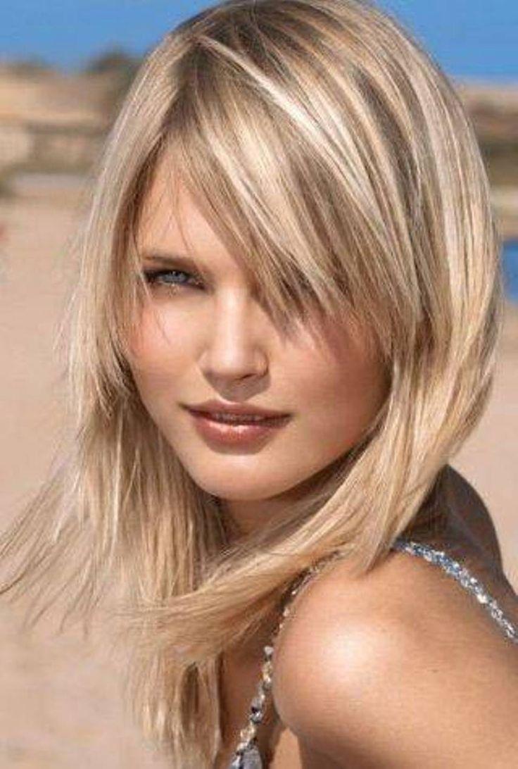 Feminine Mid Length Haircut For Thin Hair Medium Hair Pinterest