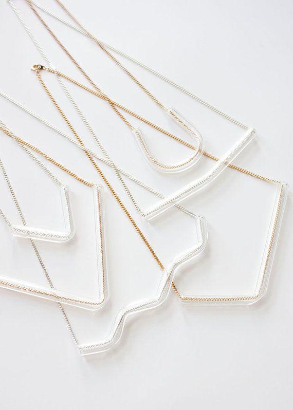 Minimal Glass Tube Necklaces