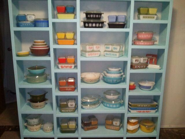 My new pyrex display built by myself and my boyfriend. This isn't half of my pyrex but didn't want it to look cluttered. | Flickr - Photo Sharing!
